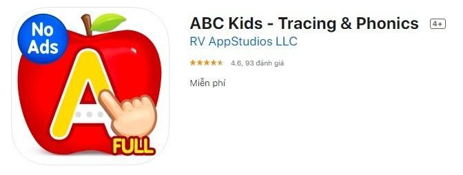 ABC Kids tiếng anh cho bé
