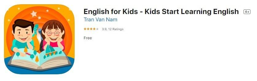 ứng dụng học tiếng anh English for kids