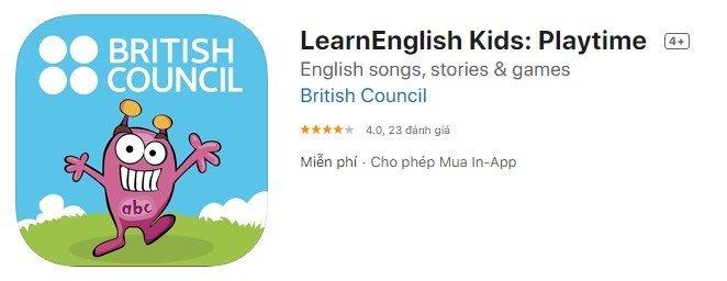 học tiếng anh với Learn English Kids: Playtime