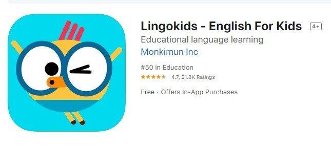 ứng dụng học tiếng anh cho trẻ em - lingokids