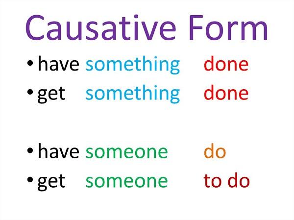 công thức causative form